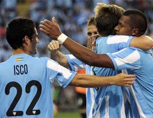 Como punteros del Grupo C terminó el Málaga de Manuel Pellegrini.