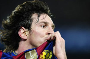Messi marcó el tanto del Barcelona, pero no les alcanzó para lograr la paridad ante el Celtic.