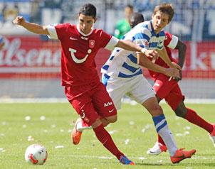 Gutiérrez luciendo los colores de su nueva institución: el Twente de Holanda.