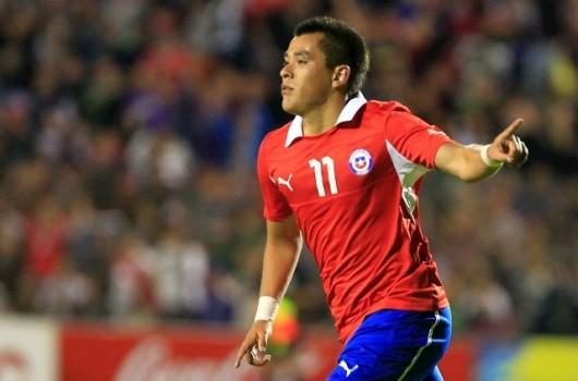 Carlos Muñoz abrió el marcador para Chile ante Haití.
