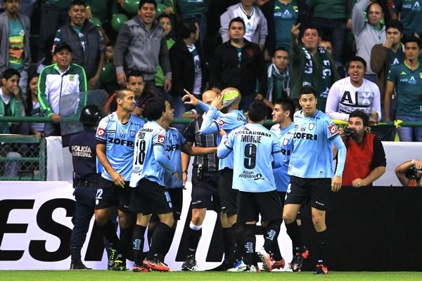 La celebración del golazo de Rodrigo Díaz.