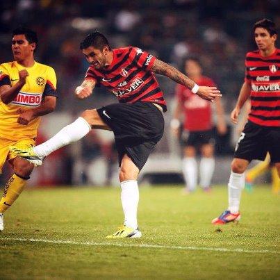 Rodrigo Millar anotó su primer gol con la camiseta del Atlas.