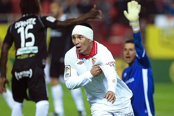 El chileno fue clave en el triunfo del Sevilla.