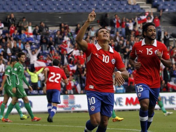Alexis Sánchez fue figura y anotó dos goles en el triunfo ante Irak.