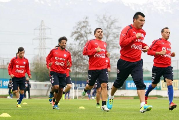 Entrenamiento Selección Chilena Adulta, para el encuentro frente a Venezuela