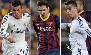 Bale, Messi y Ronaldo compiten por el Balón de Oro 2013