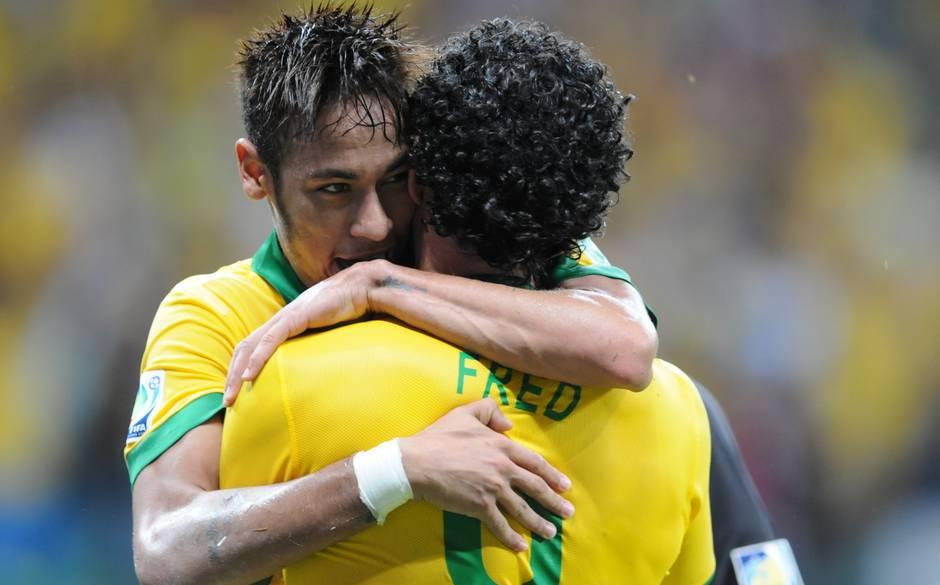 Neymar y Fred son dos los que sí estarán en la fiesta mundialista.