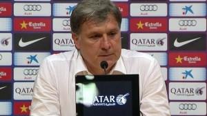 Gerardo Martino solamente alcanzó a estar una temporada dirigiendo a Barcelona.