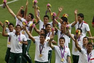 La celebración post medalla de oro.