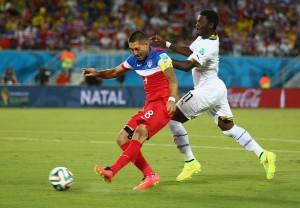 Clint Dempsey anotó el primer gol y el más rápido en lo que va de Brasil 2014.