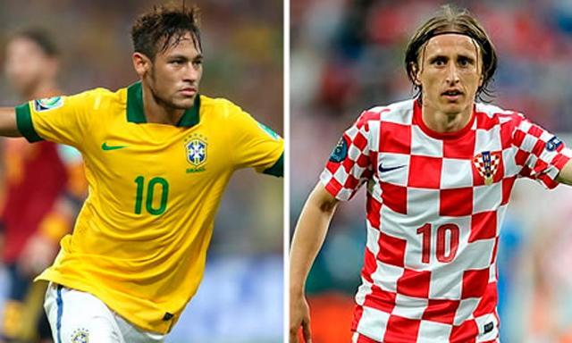 Brasil y Croacia dan el vamos a la Copa del Mundo. Neymar y Modric frente a frente.