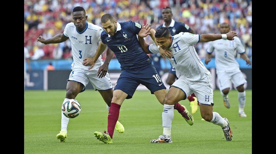 Francia le pasó por encima a Honduras con gran actuación de Benzema.