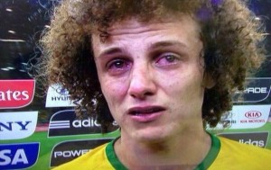 David Luiz no podía parar de llorar.