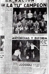 La prensa de la época destacó la final ganada por la U en 1959