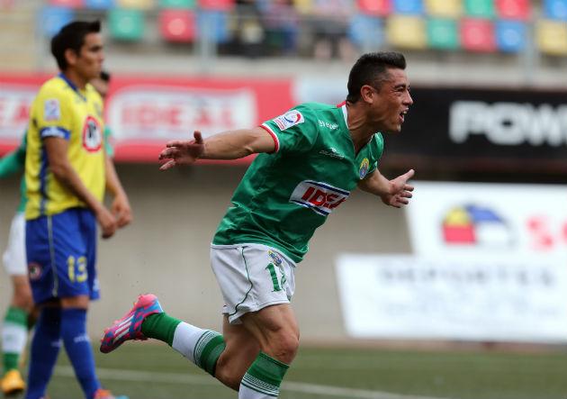 Diego Vallejos es el actual goleador de Audax Italiano y convirtió el 2-0 del encuentro.