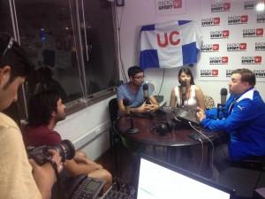 El programa Planeta UC cumplirá este enero un año en Radio Sport Chile.