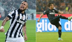 Arturo Vidal y Gary Medel dijeron presente en el duelo de Juventus e Inter de Milán.
