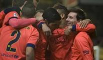 El tridente del Barça funcionó a la perfección. Anotaron Neymar y Suárez y Messi se convirtió en habilitador.