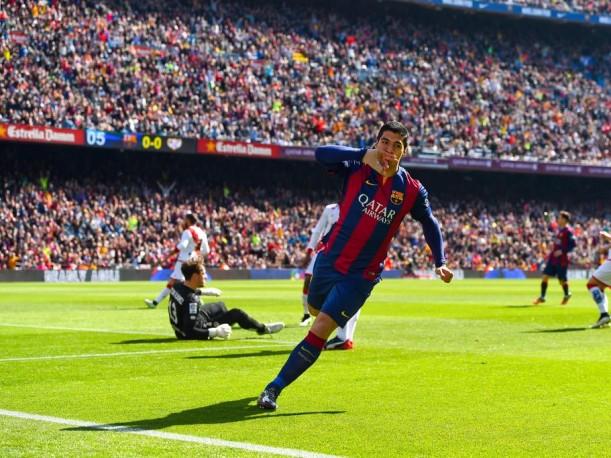 Luis Suárez anotó ante el Rayo Vallecano en dos oportunidades.