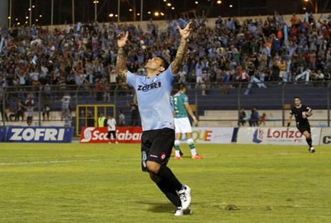 Cristián Bogado anotó en la victoria de 3-2 ante Audax Italiano.