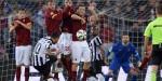 La Juve igualó con la Roma en la Serie A de Italia.