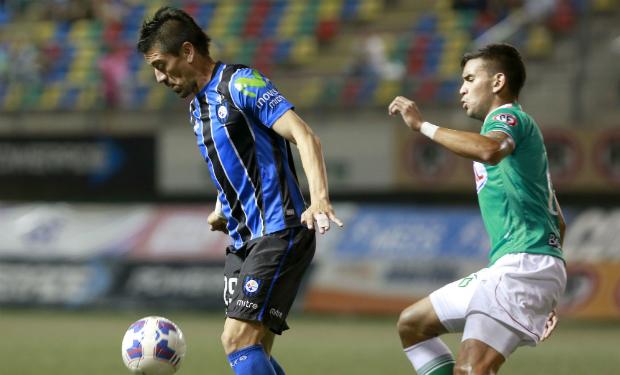 Mancilla anotó el empate para Huachipato y complicó a Audax con el descenso. Foto: latercera.cl