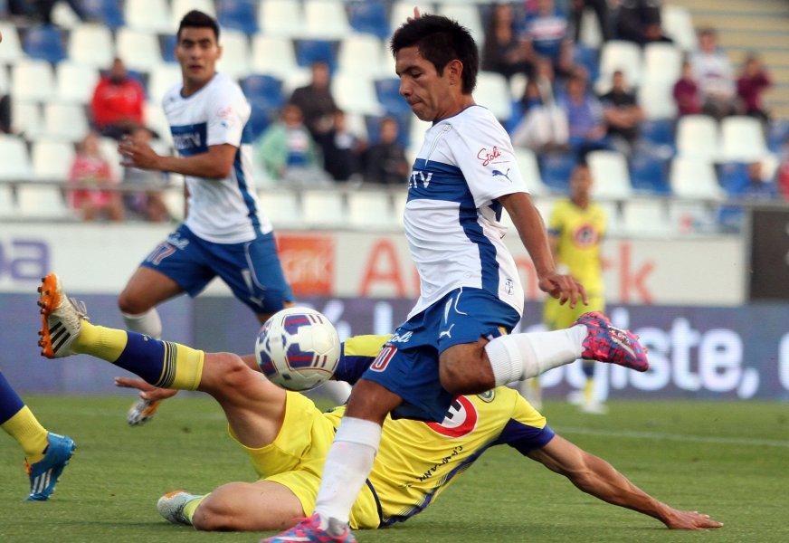 Diego Rojas viene de anotar el fin de semana en la victoria por 4-2 de los cruzados sobre Unión La Calera.