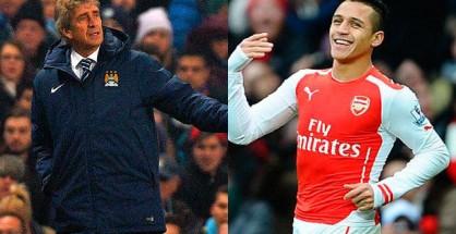 Pellegrini y Sánchez fueron protagonistas en la nueva Premier que el Chelsea conquistó. Foto: latercera.com