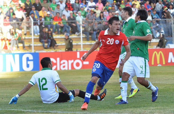 Bolivia vs Chile  aranguiz gol