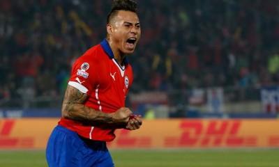Eduardo Vargas es el goleador de la Copa América, con 4 goles.