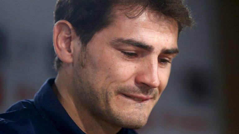 Casillas en su última conferencia de prensa en el Real Madrid.