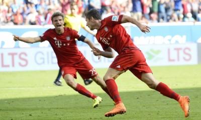 Lewandowski y Müller anotaron para el triunfo del Bayern Múnich.