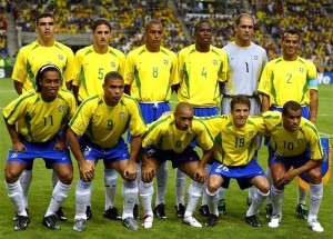 Selecciòn de Brasil 2002, equipo que consiguió el Mundial de Corea y Japón.