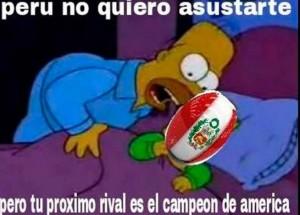 El campeón de América triunfó en Perú