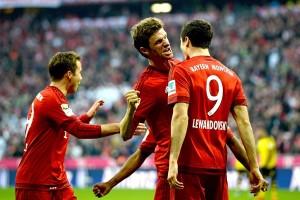 Vidal estuvo presente en la goleada del Bayern al Borussia.