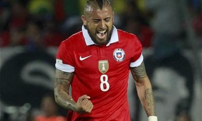 Arturo Vidal anotó el gol de Chile, pero no fue suficiente.
