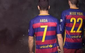 Arda Tuán ocupará el 7 y Aleix Vidal el 22.