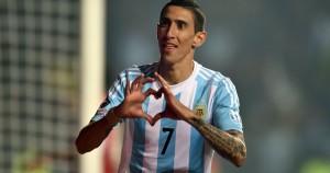 Di María consiguió el empate cuando Chile jugaba con 10 en cancha.