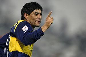 En Everton el 2008, año donde sería campeón del fútbol chileno.