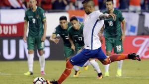 Con este penal, Vidal le dio la última victoria a Chile en la pasada Copa América.
