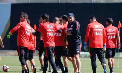 Selección Chilena se prepara de cara al partido frente a Ecuador.