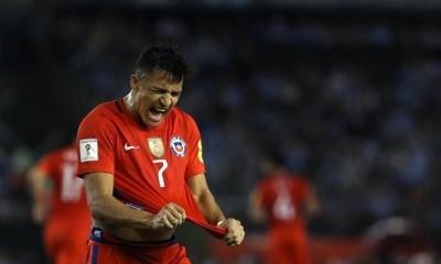 Alexis anotó su gol 37 con la selección chilena y alcanzó a Salas como máximo anotador con La Roja.