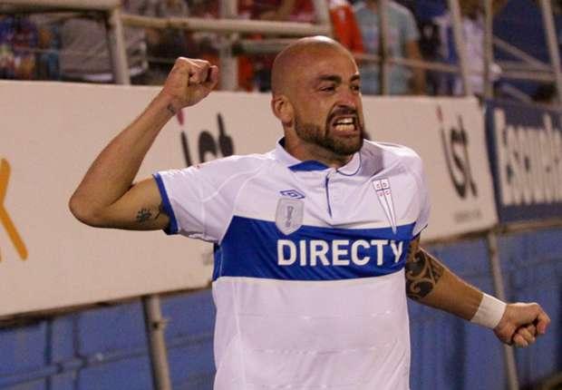 Santiago Silva anotó el gol del triunfo de la UC ante el Flamengo en Copa Libertadores.