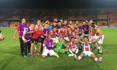 Palestino festejo Copa Libertadores