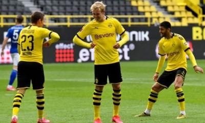 gol festejo coronavirus Dortmund alemania