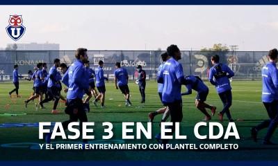 fase 3 entrenamiento universidad de chile