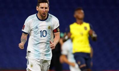 Messi anotó el gol del triunfo de Argentina ante Ecuador en La Bombonera.
