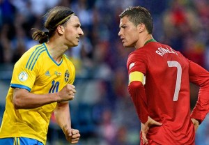 Duelo entre los astros del fútbol mundial.