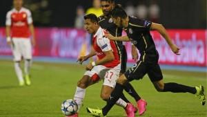 Alexis y Arsenal cayeron de visita ante el Dínamo de Zagreb.