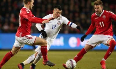 Chile empató como visita sin goles ante Dinamarca.